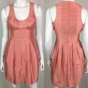 Nanette Lepore Silk Gingham Check Plaid Dress